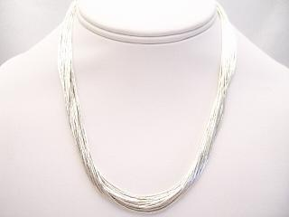 Liquid Silver Necklace Sterling Silver Cones and Clasp. Beautiful worn alone or add your favorite pendant.